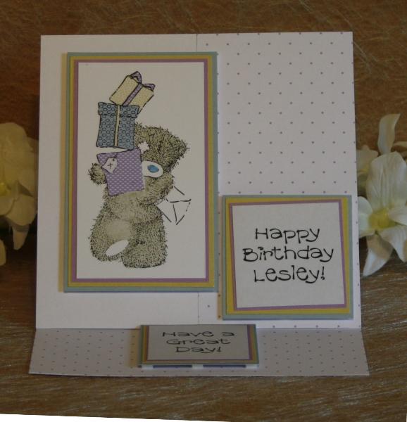 Lesley, birthday card
